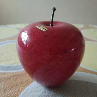 Polished Stone Apple Decor Display