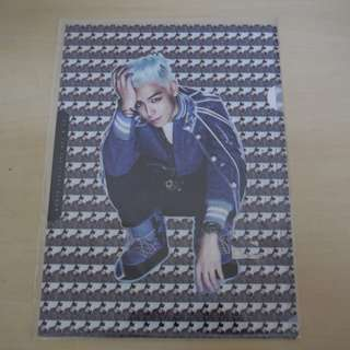 [CRAZY DEAL 90% OFF FROM ORIGINAL PRICE][READY STOCK]BIGBANG TOP T.O.P TAIWAN WARNER OFFICIAL A4 SIZE FILE 1PC; ORIGINAL FR TAIWAN (PRICE NOT INCLUDE POSTAGE)PLEASE READ DETAILS FOR MORE INFO; POSLAJU:PENINSULAR AREA :RM10/SABAH SARAWAK AREA: RM15
