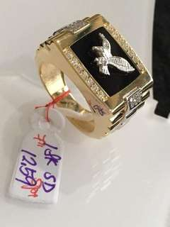 Saudi Gold 18k Ring For Men (Size 7)