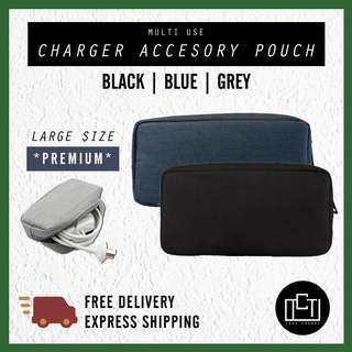🔅cT🔅 LARGE V1 Accessory charger cable pouch pencil case laptop case cable pouch casing for all laptops