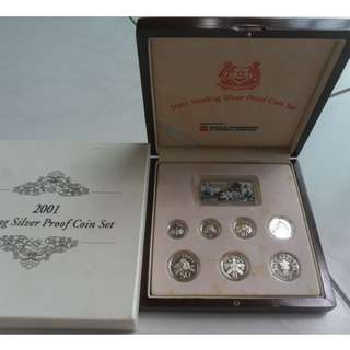 2001 Singapore Silver Proof Coin Set
