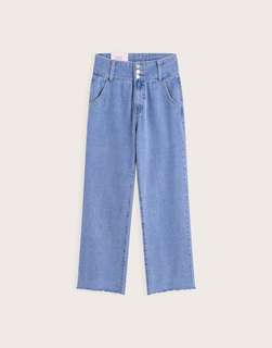 🚚 Pazzo高腰排釦修身寬褲