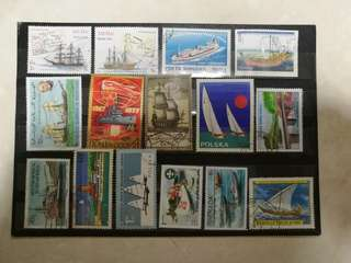Assorted Stamps with Ships