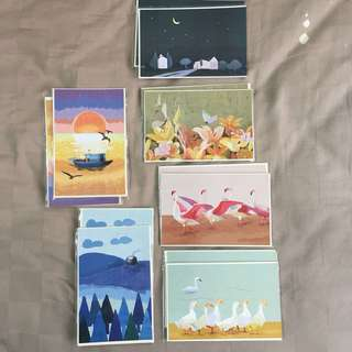 Brand new set of 2 postcard with envelopes