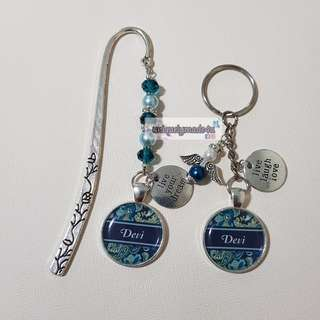 Personalized Keychain & Bookmark (reserved)
