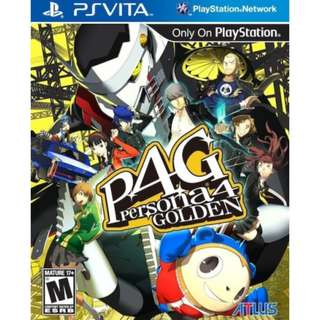 [NEW NOT USED] PSV PERSONA 4: GOLDEN P4G Sony VITA Atlus RPG Games