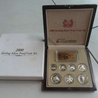 2000 Singapore Silver Proof Coin Set