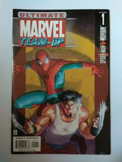 🚚 Ultimate Marvel Team-Up Spider-Man & Wolverine Rare Collector's Item 1st Issue