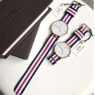 Couple's Watch * Daniel Wellington Canterbury NATO Strap 0102DW 0502DW