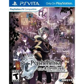 [NEW NOT USED] PSV Psychedelica of the Ashen Hawk Sony Vita Aksys Visual Novel Games