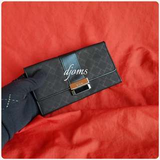 ✔TUMI CARD TICKET CHECK HOLDER LONG WALLET