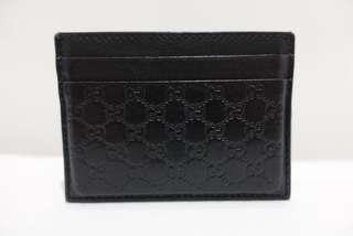 Used Genuine Gucci Signature Black Card Holder