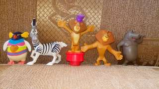 Mdgascar mcdo toys
