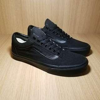 VANS黑武士OLD SKOOL經典OS低幫全黑帆布鞋