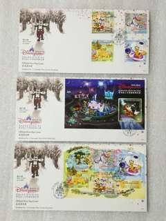 2005年 香港迪士尼樂園開幕誌慶 首日封共3套