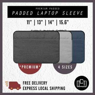 🚚 🔅cT🔅 V1 Thick inner padding laptop sleeve cover padded laptop casing ALL LAPTOPS