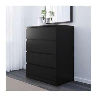 Chest Of 4 Drawers cabinet IKEA Malm shoes clothes