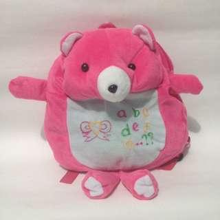 Tas boneka ransel beruang pink/tas anak pg/tas anak perempuan