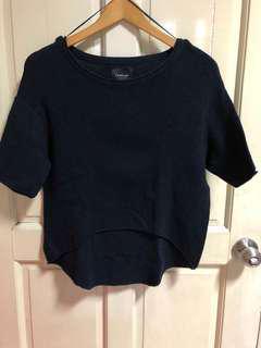Zara Knit Navy Blue Top