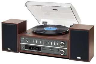 TEAC LP-P1000 TURNTABLE STEREO SYSTEM CD/RADIO/BLUETOOTH