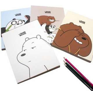 WE BARE BEARS SKETCH BOOK 1 pc