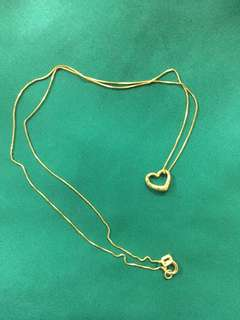 Saudi Gold Necklace with Pendant 18K