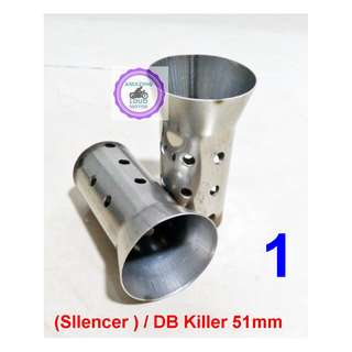 Motorcycle Silencer DB Killer Exhaust Universal 51mm
