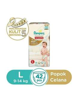 PAMPERS premium care active pants L 42