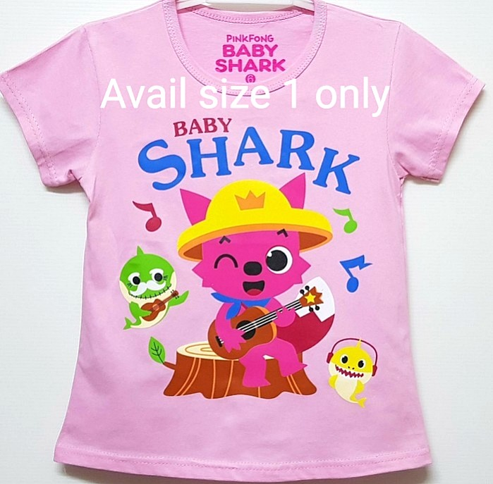 35ed8f69 1for$6 Pinkfong Baby Shark Music Girls T-shirt, Babies & Kids, Babies  Apparel on Carousell
