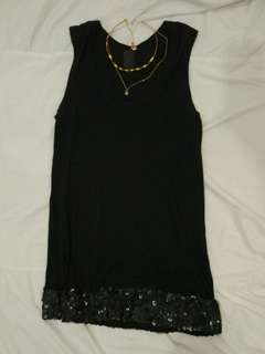 Vera Wang Mini Dress Sequin