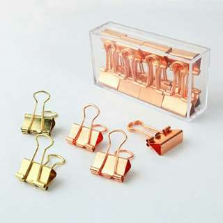 Rose Gold / Gold Clips