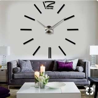 DIY  Modern ExtraLarge 3D Wall Clock