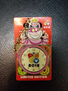 Pin Go Cheshire cat pin 妙妙貓徽章