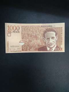 Colombia 1000 pesos 2001 issue