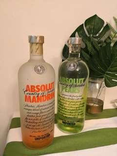Absolut vodka pear or mandarin