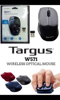 W571 Targus wireless optical mouse with 1 year warranty