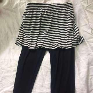 🚚 全新假兩件褲裙