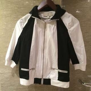 Black & white hoodie jacket Miss Collection