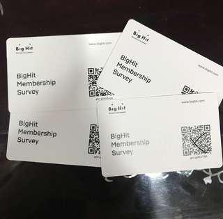 🚚 [ WTS ] BigHit Membership Survey ( unused )