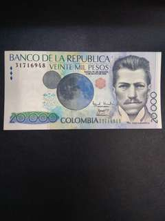 Colombia 20000 pesos 2000 issue