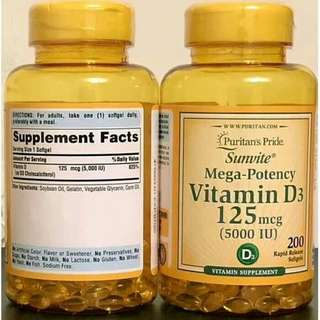 Puritan's Pride Vitamin D3