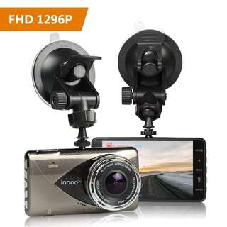 828. 1296P Full HD Night Vision Dash Cam, Innoo Tech Car Camera, 170°Ultra Wide Angle, G-sensor, Motion Detection, LDWS & FCWS, Parking Mode, 16G SD Card Included