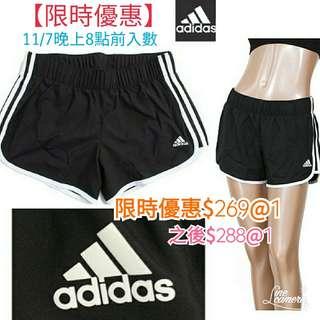 【限時優惠】Adidas Three Stripe Shorts 黑色運動短褲 【韓國直送】