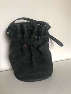 <Alexander Wang> Diego Bucket Bag (Black/Iridescent)