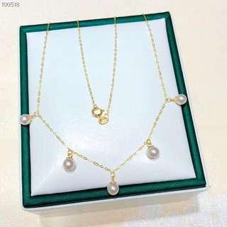 18 K金珍珠頸鏈