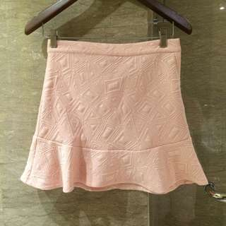 Penshoppe Original Authentic 100% - Peach beige skirt with pattern