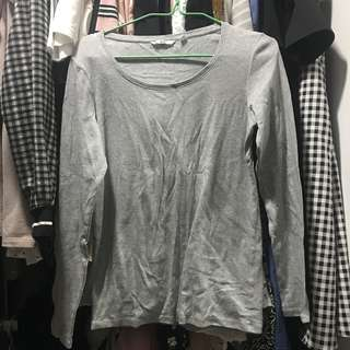 Uniqlo grey long sleeves top