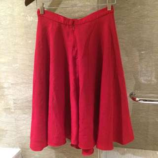 Schoncouture Red Flare skirt Dress