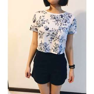 F21 Floral Crop in blue