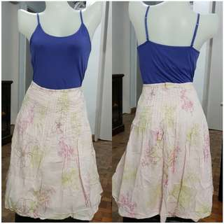 Pale Pink Floral Skirt